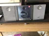 Philips slim wall mounted hifi , cd and radio,