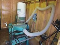 industrial planer and dust collector as a set