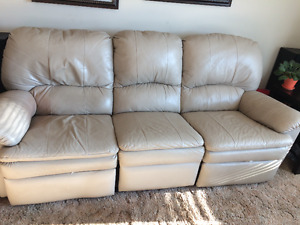 Reclining Faux leather couch