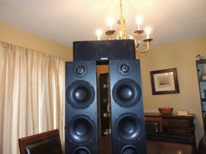 Merak by Axiom MT66 Mini-Tower Speakers & MC4 Center Channel