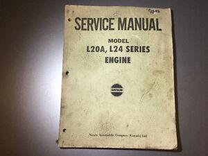 1969-73 Datsun 240Z S30 2000 Fairlady L20 L24 Engine Shop Manual