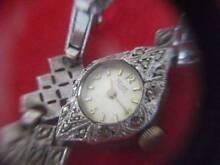 Ladies Antique-ROLEX-RELIDE Gold silver Watch-1946-Mechanica...
