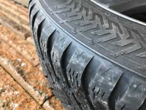 Set of winter tires on rims from Range Rover Evoque