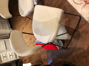 Two Structube dining chairs