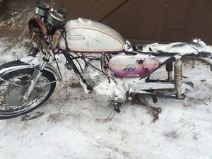 Parting out 1970 Yamaha CS3 200 Twin Two Stroke