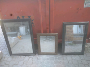3 framed mirrors for sale - must go!
