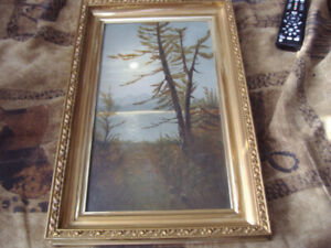 ANTIQUE OIL. SIGNED E. FORBES