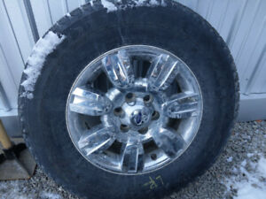 R275/65 R18 Winter Tires with F150 Rims