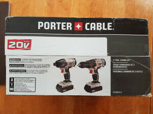PORTER-CABLE 20-volt MAX Drill SET BRAND NEW