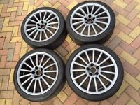 "18"" VW Scirocco R32 Style Alloy wheels & 225/40/18 Tyres - Will Fit Passat Touran Caddy EOS"