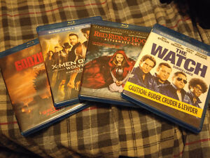 4 Blue Ray DVDs