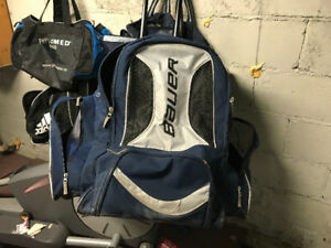 Bauer Hockey Bag - Backpack Style with Handle and Wheels