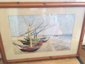 Framed Picture of Boats