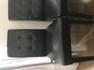 Two leather chairs from Structube