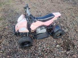 Kids 50cc 2stroke quad pink