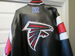 REDUCED! Atlanta FALCONS NFL leather jacket and hat for sale