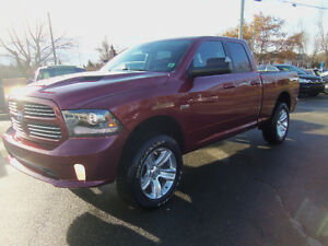 2014 RAM 1500 SPORT 4X4 !! HEATED/COOLED LEATHER !! NAV !!