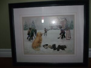 "Framed Print by Canadian Artist M.G. Smith ""The Spectator"""