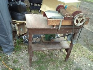 Antique Home Built Powered Wool Carder. Must Sell.