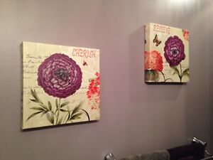 Canvas pictures with Cherish and Believe Kitchener / Waterloo Kitchener Area image 1