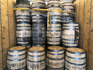 LOOK > Clean, Awesome Looking Wet Oak Barrels. Stored Indoors.