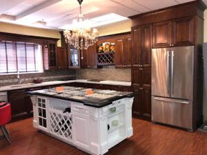 Walnut Glaze maple solid kitchen on Promotion now!!