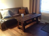 Rustic hand built solid wood coffee tables