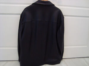 Manteau de cuir/ Black leather jacket West Island Greater Montréal image 2