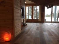 Yoga studio in the Rocky Mountains Canmore