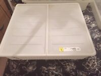 3 IKEA under bed storage containers
