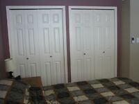 large  bedroom with lots of closet space For Working Female