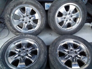 "20"" GM CHROME RIMS FROM ESCALADE"