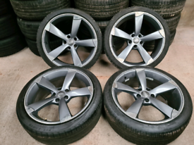 """19"""" ttrs audi a3 volkswagen golf alloy wheel and tyres"""