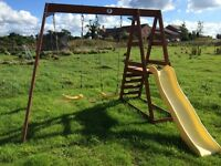 Swings and slide set