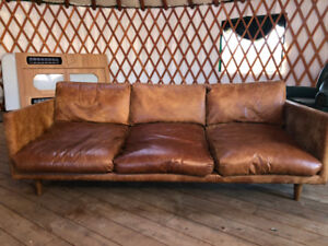 Near New Leather ARTICLE brand couch