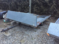 Northtrail Double Snowmobile Tilt and Load Trailer