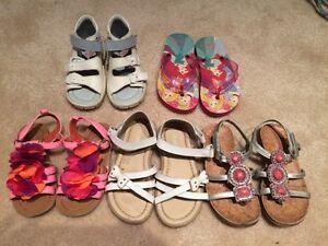Toddler size 8 girl sandals