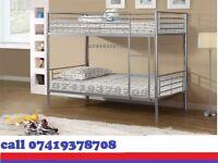 single metal bunk split in 2 single Bed