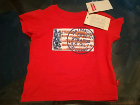 New With Tags Levi's San Francisco Red t-shirt for 12 months old baby