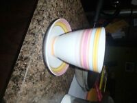 SECOND CUP COFFEE/TEA CUPS AND SAUCERS---NEW