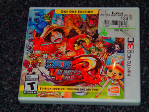 ONE PIECE UNLIMITED WORLD RED FOR 3DS ~ MINT CONDITION