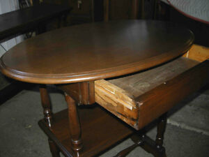 antique walnut hall table, gallery shelf, hidden drawer,restored Oakville / Halton Region Toronto (GTA) image 6