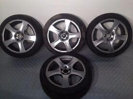 "FM 17"" 5x100 7j original made in Italy alloy wheels, not borbet, lenso, ats, bbs, tm"