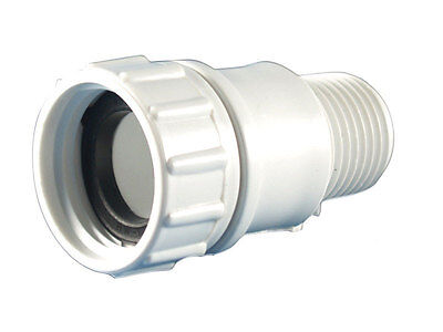- Lasco  PVC  Hose Adapter  1/2 in. Dia. x 3/4 in. Dia. White  1 pk