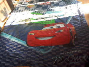 Lightening McQueen curtains and comforter
