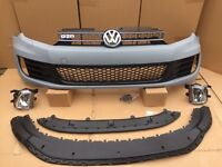 Mk6 golf Gtd front bumper complete fits 2009 to 2013