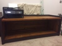 Industrial style wood and metal bench unit