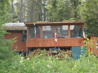lake front cabin on Birch Lake BC