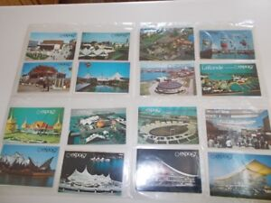 LOT CARTES POSTALES EXPO 67