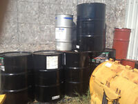 NEW 55 GALLON STEEL  OIL DRUMS  ****50.00*****